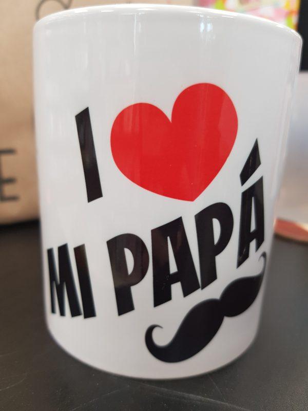 Taza Blanca I love mi Papá