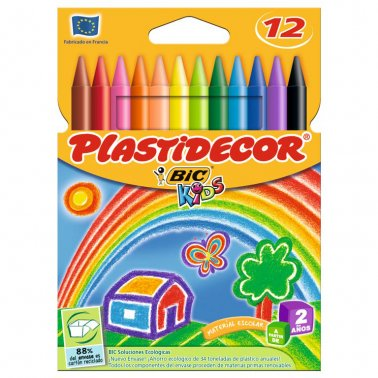 Ceras Plastidecor 12 colores